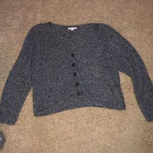 American Eagle Cropped Button Up Cardigan